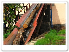 Transport kłód do przetarcia